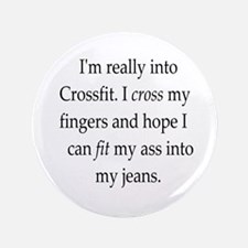 fitness humor Button