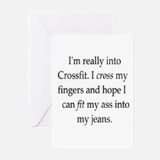 fitness humor Greeting Cards