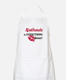 Redheads do EVERYTHING better BBQ Apron