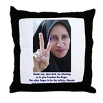 Two Fingers Thanks USA Throw Pillow