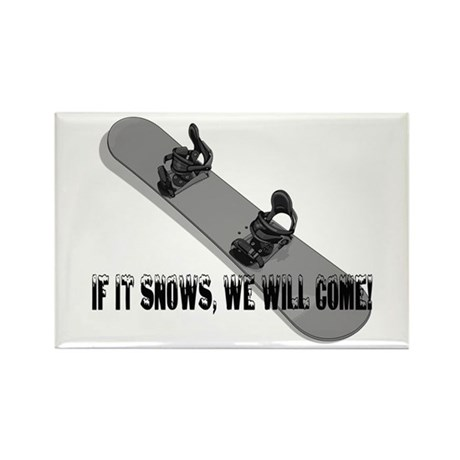 Snowboarding Gifts Rectangle Magnet (100 pack)