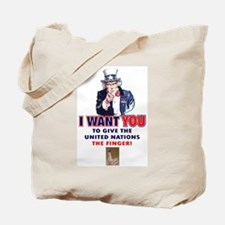 Give the United Nations the Finger Tote Bag