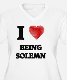 being solemn Plus Size T-Shirt
