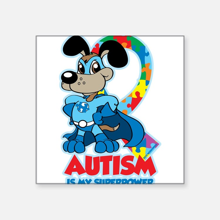 "Cute Kids autism Square Sticker 3"" x 3"""