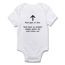Food Goes In Here Infant Bodysuit