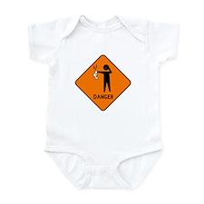 Diaper Caution Infant Bodysuit