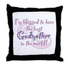 Blessed Godmother Pk Throw Pillow