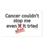Cancer Couldn't Stop Me Postcards (Package of 8)