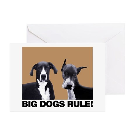 BIG DOGS RULE! Greeting Cards (Pk of 10)