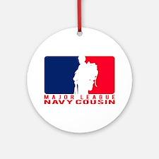 Major League Cousin - NAVY Ornament (Round)