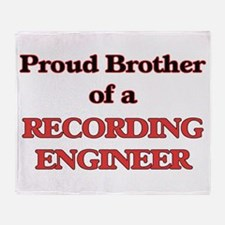 Proud Brother of a Recording Enginee Throw Blanket