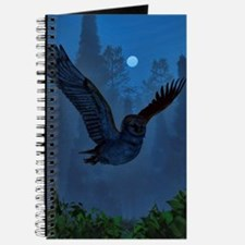 Owl In The Moonlight Shadow Journal