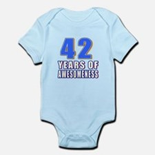 42 Years Of Awesomeness Infant Bodysuit