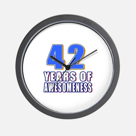 42 Years Of Awesomeness Wall Clock