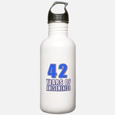 42 Years Of Awesomenes Water Bottle