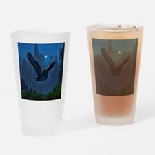 Owl In The Moonlight Shadow Drinking Glass