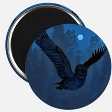 Owl In The Moonlight Shadow Magnets