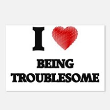 being troublesome Postcards (Package of 8)