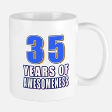 35 Years Of Awesomeness Mug