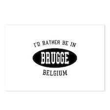 I'd Rather Be in Brugge, Belg Postcards (Package o