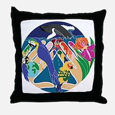 Tropical Creation Throw Pillow