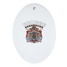 Brugge, Belgium Oval Ornament