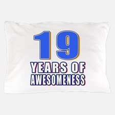 19 Years Of Awesomeness Pillow Case