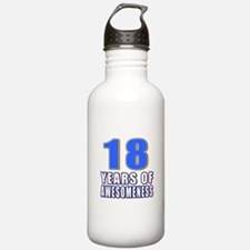 18 Years Of Awesomenes Water Bottle