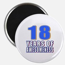 18 Years Of Awesomeness Magnet