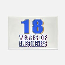 18 Years Of Awesomeness Rectangle Magnet