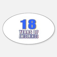 18 Years Of Awesomeness Decal