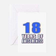 18 Years Of Awesomeness Greeting Card