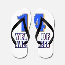 14 Years Of Awesomeness Flip Flops