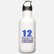 12 Years Of Awesomenes Water Bottle