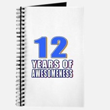 12 Years Of Awesomeness Journal