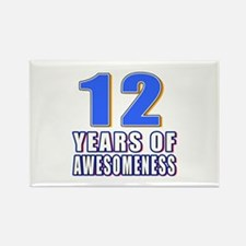 12 Years Of Awesomeness Rectangle Magnet