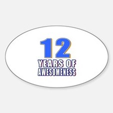 12 Years Of Awesomeness Decal