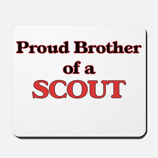 Proud Brother of a Scout Mousepad