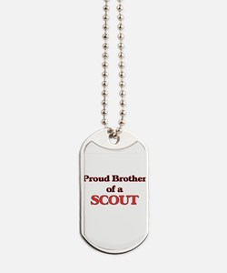 Proud Brother of a Scout Dog Tags
