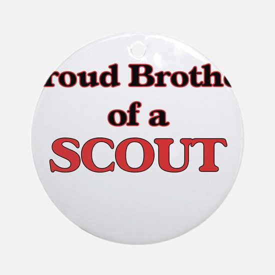 Proud Brother of a Scout Round Ornament