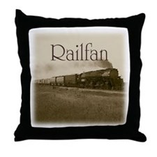 Railfan Throw Pillow