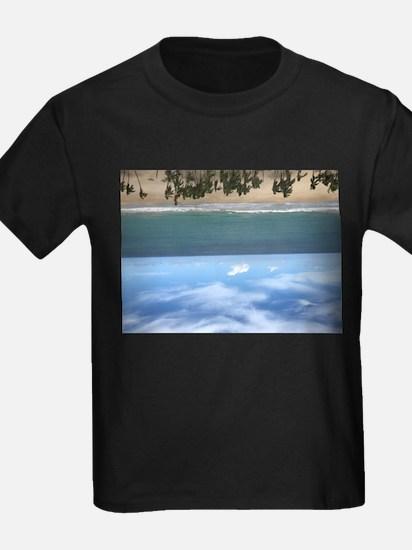 Beach resort upside down T-Shirt