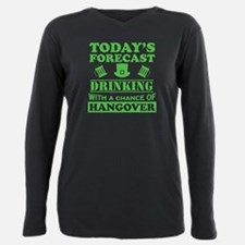 Today's Forecast: Drinking Plus Size Long Sleeve T