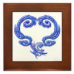 Just Heart Framed Art Tile