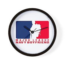 Major League BF - NAVY Wall Clock