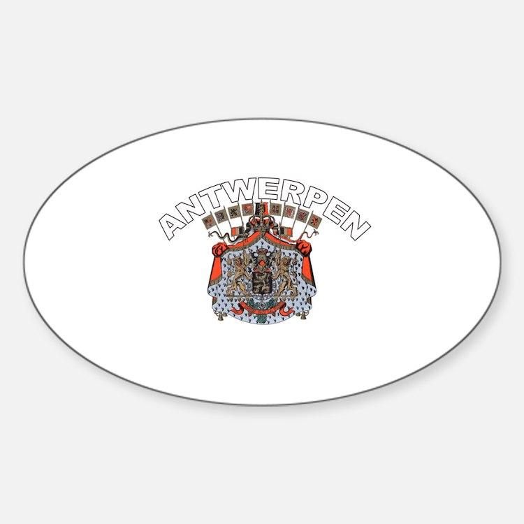 Antwerpen, Belgium Oval Bumper Stickers