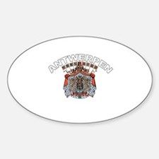 Antwerpen, Belgium Oval Decal