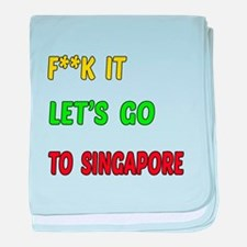 Let's go to Singapore baby blanket