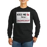 Kiss Me I'm a PISCATOLOGIST Long Sleeve Dark T-Shi