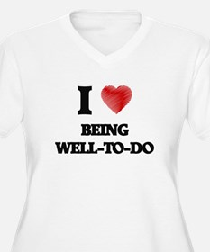 being well-to-do Plus Size T-Shirt